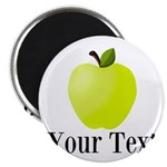 Personalizable Green Apple Magnets