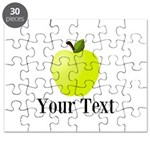 Personalizable Green Apple Puzzle