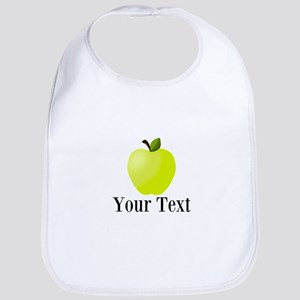 Personalizable Green Apple Bib