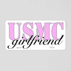 USMC Girlfriend (Pink) Aluminum License Plate