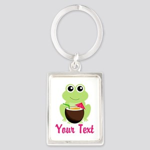 Personalizable Cocktail Frog Keychains