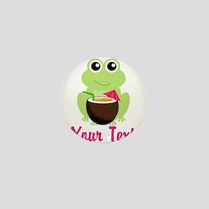 Personalizable Cocktail Frog Mini Button
