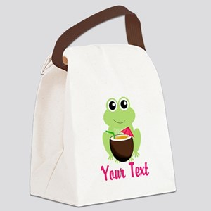 Personalizable Cocktail Frog Canvas Lunch Bag