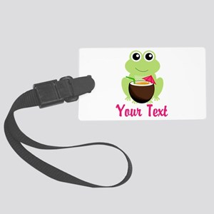 Personalizable Cocktail Frog Luggage Tag