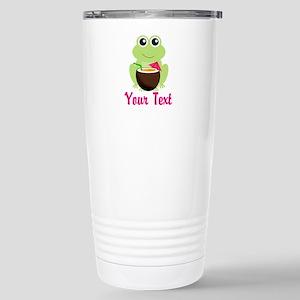 Personalizable Cocktail Frog Travel Mug