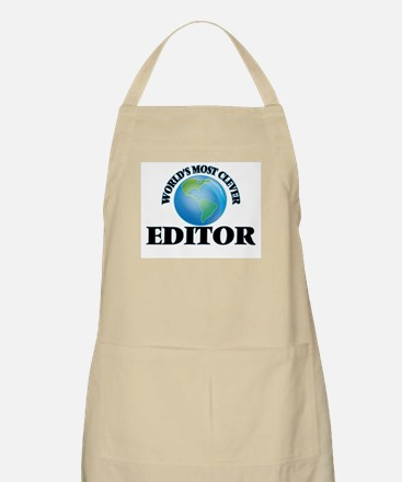 World's Most Clever Editor Apron