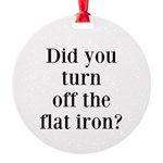 Did you turn off the flat iron? Ornament