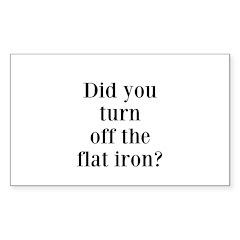 Did you turn off the flat iron? Decal