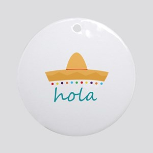 Hola Hat Ornament (Round)