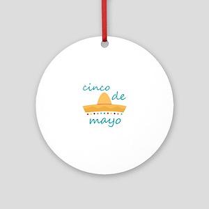 Cinco de Mayo Hat Ornament (Round)