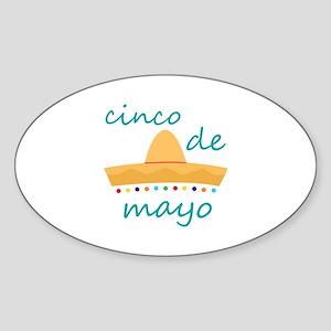 Cinco de Mayo Hat Sticker