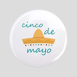 """Cinco de Mayo Hat 3.5"""" Button"""