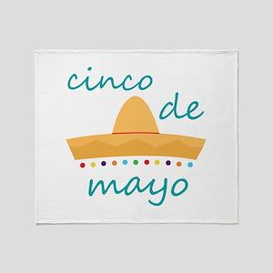 Cinco de Mayo Hat Throw Blanket