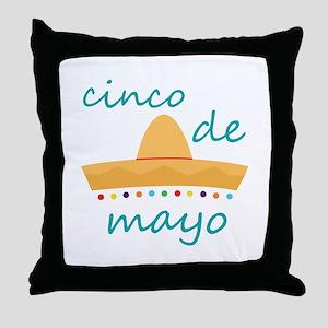 Cinco de Mayo Hat Throw Pillow
