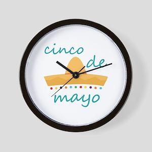 Cinco de Mayo Hat Wall Clock