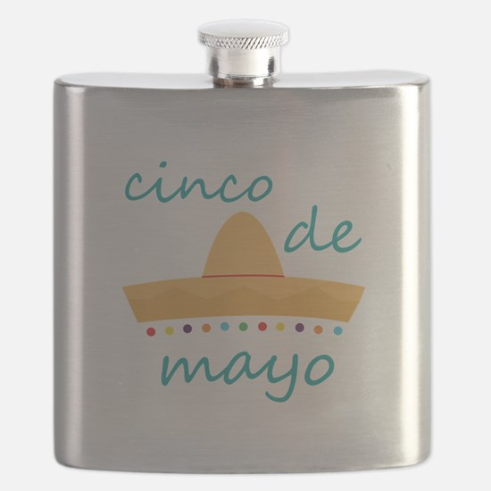 Cinco de Mayo Hat Flask