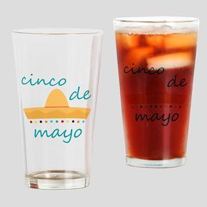 Cinco de Mayo Hat Drinking Glass