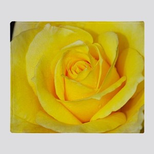 Beautiful single yellow rose Throw Blanket