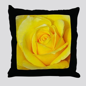 Beautiful single yellow rose Throw Pillow