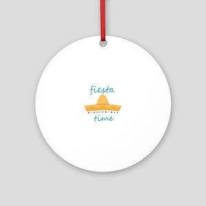 Fiesta Time Hat Ornament (Round)
