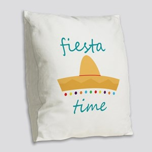 Fiesta Time Hat Burlap Throw Pillow