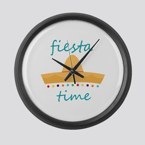 Fiesta Time Hat Large Wall Clock