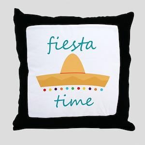 Fiesta Time Hat Throw Pillow