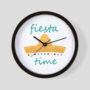 Fiesta Time Hat Wall Clock