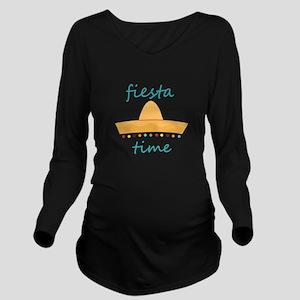 Fiesta Time Hat Long Sleeve Maternity T-Shirt