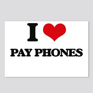 I Love Pay Phones Postcards (Package of 8)