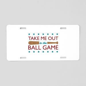 Take Me Out Bat Aluminum License Plate
