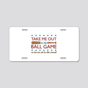 Sit in Crowd Aluminum License Plate