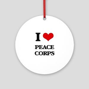I Love Peace Corps Ornament (Round)