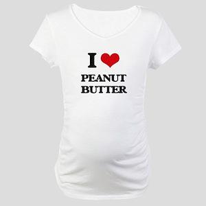 I Love Peanut Butter Maternity T-Shirt