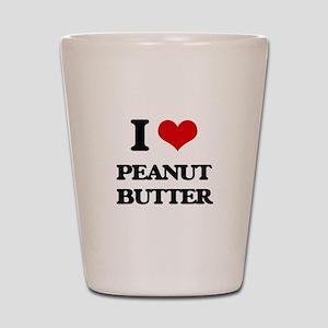 I Love Peanut Butter Shot Glass