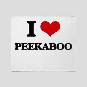 I Love Peekaboo Throw Blanket