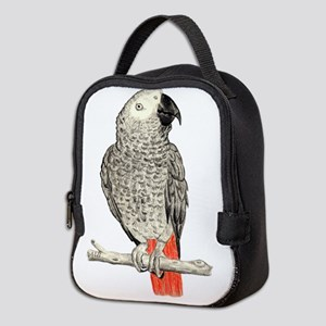 African Grey in Pencil Neoprene Lunch Bag