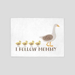 I Follow Mommy 5'x7'Area Rug