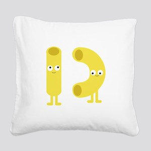 macaroni_base Square Canvas Pillow