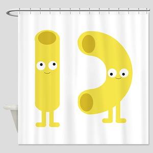 macaroni_base Shower Curtain