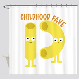 macaroni_childhood fave Shower Curtain