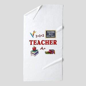 Teachers Do It With Class Beach Towel