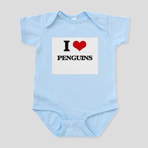 I Love Penguins Body Suit
