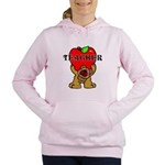 Teachers Apple Bear Women's Hooded Sweatshirt