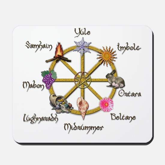 Wheel of the Year 1 Mousepad