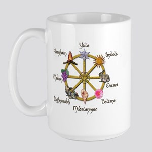 Wheel of the Year 1 Large Mug