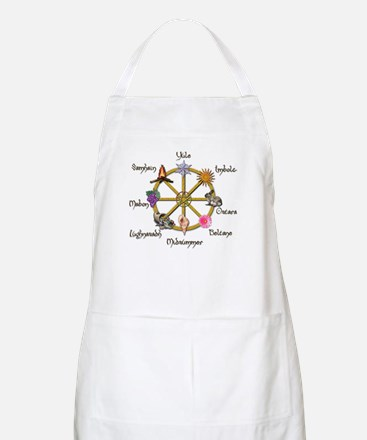 Wheel of the Year 1 BBQ Apron