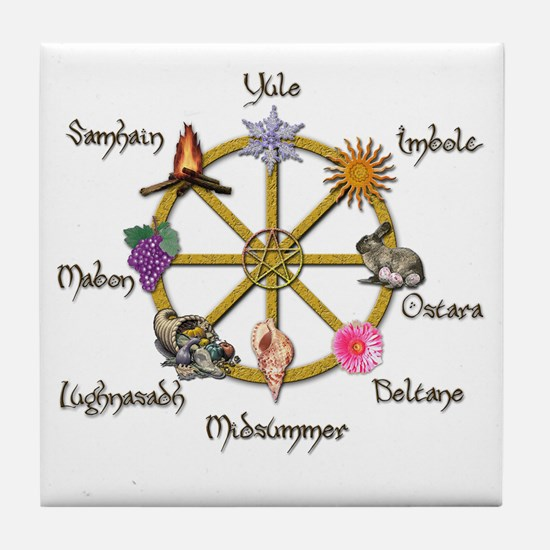 Wheel of the Year 1 Tile Coaster