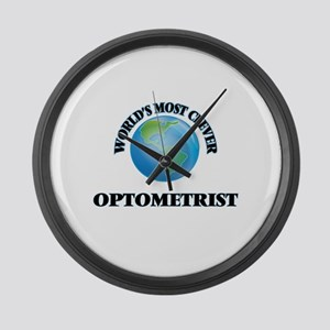 World's Most Clever Optometrist Large Wall Clock