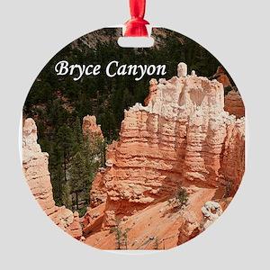 Bryce Canyon, Utah 3 (caption) Round Ornament